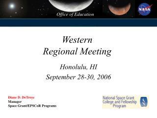 Western  Regional Meeting