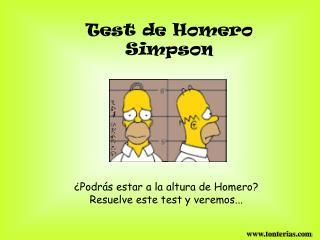 Test de Homero Simpson