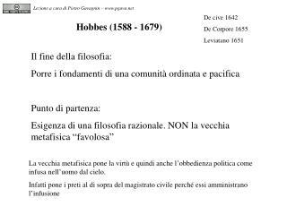 Hobbes (1588 - 1679)