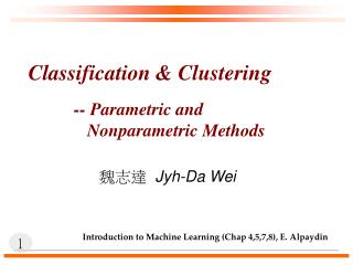 Classification  Clustering
