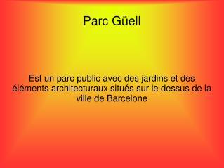 Parc G�ell