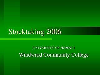 Stocktaking 2006