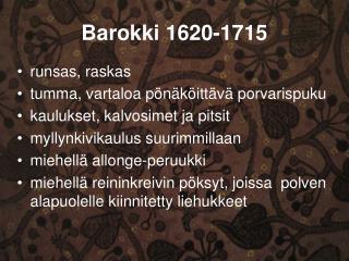 Barokki 1620-1715