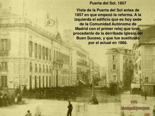 Puerta del Sol. 1857