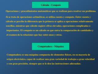 Cálculo - Computo