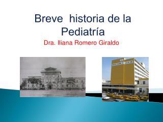 Breve  historia de la Pediatr�a