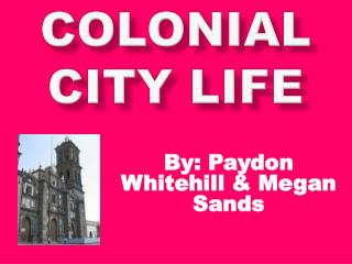 Colonial City Life
