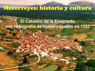 Mecerreyes: historia y cultura El Catastro de la Ensenada,