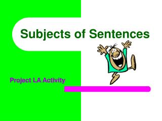 Subjects of Sentences