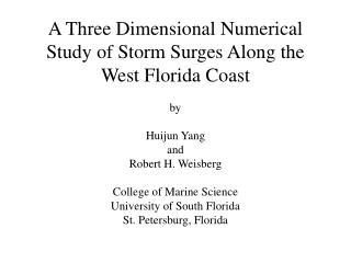 West Florida Shelf Hurricane Surge Simulation Region