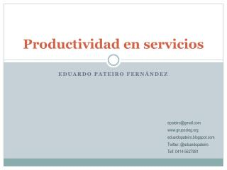 Productividad en servicios