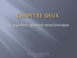 Chapitre  DEUX