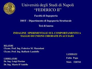 """Università degli Studi di Napoli """"FEDERICO II"""""""