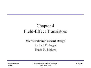 Chapter 4 Field-Effect Transistors