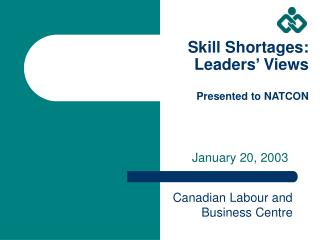 Skill Shortages: Leaders' Views Presented to NATCON