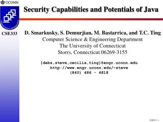 Security Capabilities and Potentials of Java