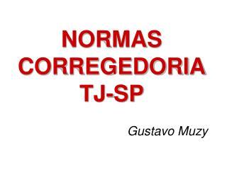 NORMAS CORREGEDORIA TJ-SP
