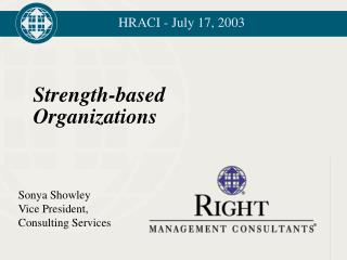 Strength-based Organizations