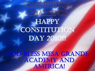 CONSTITUTION  CHALLENGE