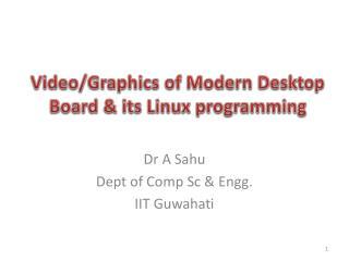 Video/Graphics of Modern Desktop Board & its Linux programming