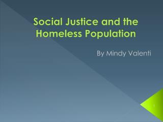 Social Justice and the Homeless Population