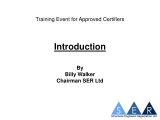 Training Event for Approved Certifiers