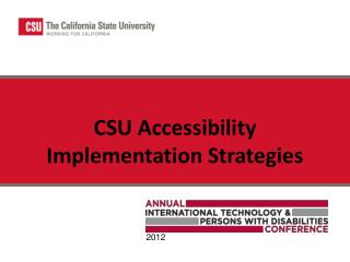 CSU Accessibility Implementation Strategies