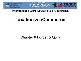 Taxation & eCommerce