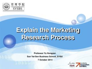 Explain the Marketing Research Process