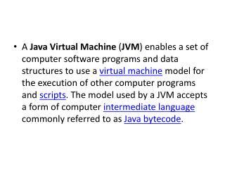 JVM, JRE, SDK,BYTECODE