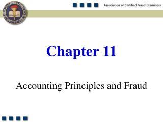 Accounting Principles and Fraud