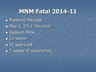 MNM Fatal 2014-11