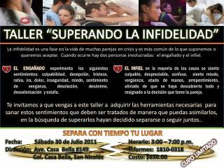 """TALLER """"SUPERANDO LA INFIDELIDAD"""""""