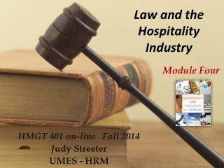 Law and the Hospitality Industry