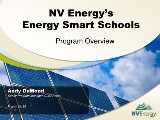 NV Energy�s Energy Smart Schools