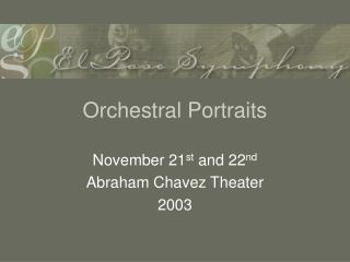Orchestral Portraits
