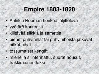 Empire 1803-1820