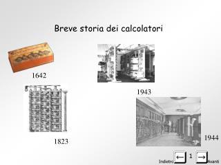 Breve storia dei calcolatori