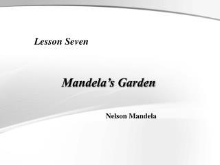 Mandela's Garden