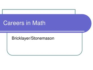 Careers in Math