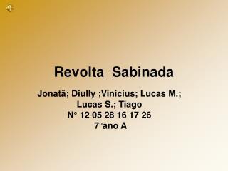 Revolta  Sabinada