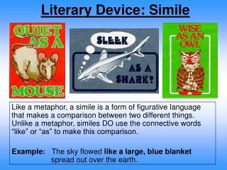 Literary Device: Simile