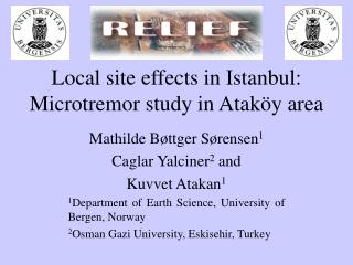 Local site effects in Istanbul: Microtremor study in Atak�y area