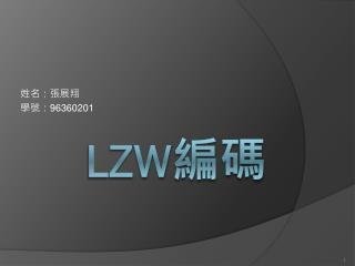 LZW 編碼