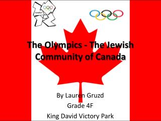 The Olympics - The Jewish Community of Canada