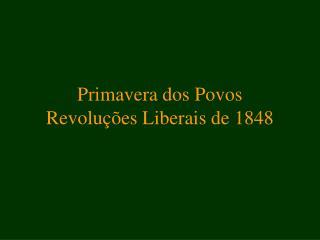 Primavera dos Povos Revoluções Liberais de 1848