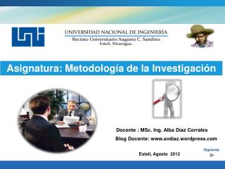 Asignatura: Metodolog�a de la Investigaci�n