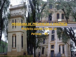 PROGRAMA DE PREVENÇÃO À VIOLÊNCIA Prefeito Adolfo  Fetter  Jr. Pelotas – RS