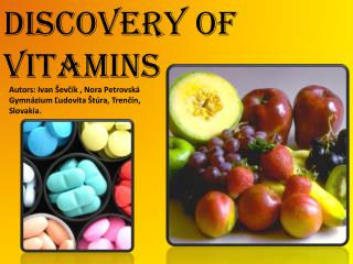 Discovery  of vitamins