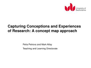Capturing Conceptions and Experiences of Research: A concept map approach